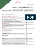 2013 Final Status Report on Major Business Bills