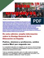 Noticias Uruguayas Viernes 25 de Octubre Del 2013