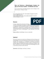Análise de técnicas e metodologias usadas em designo no proc