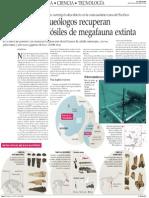 ARQUEÓLOGOS REC UPERAN BAJO EL MAR FOSILES DE MEGA FAUNA EXTINTA -El Mercurio DE STGO 08-10-13.pdf