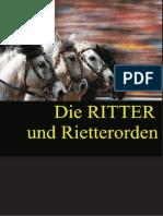 Aue, Kurt von der - Das Rittertum und die Ritter-Orden (1825)