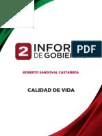 Calidad de Vida - 2do Informe de Gobierno
