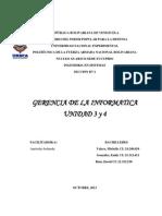 Trbajao Unidad 2 y 3 Gerencia Informatica