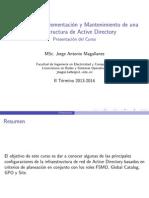 Planeación y Mantenimiento de Infraestructura de Active Directory