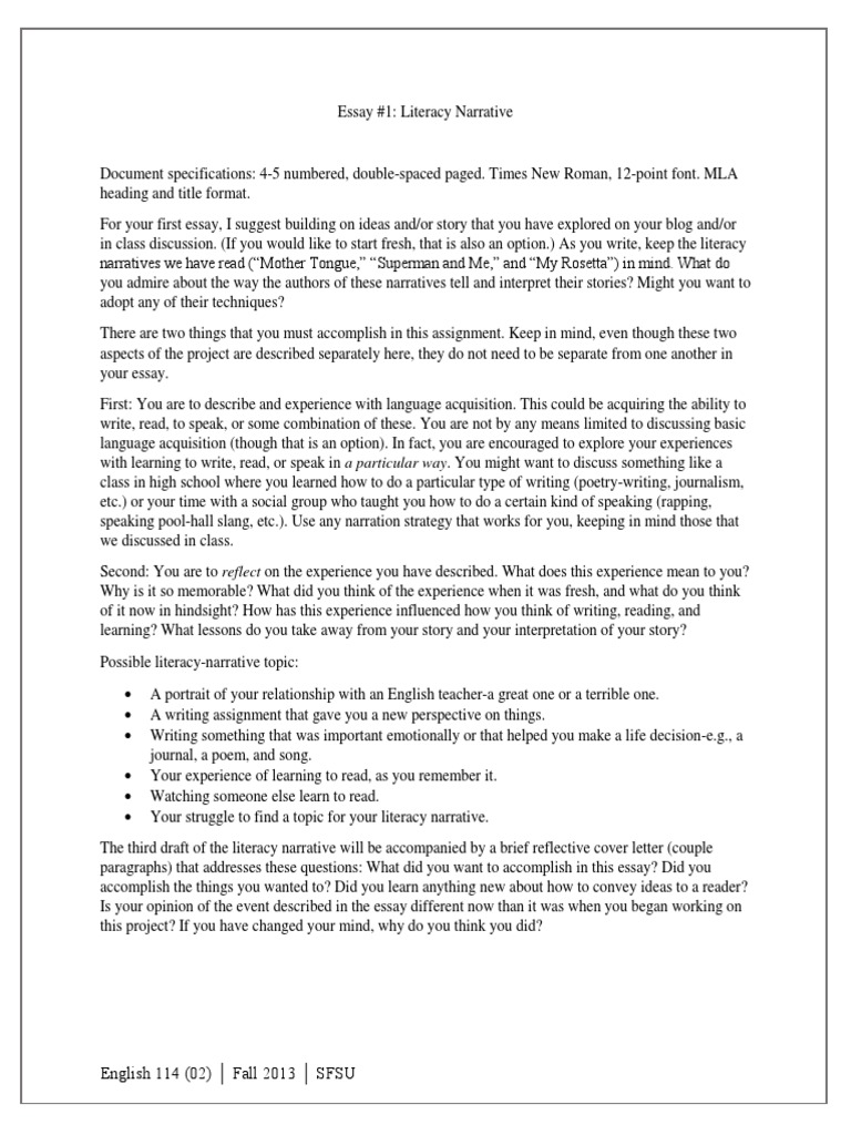 Interesting Persuasive Essay Topics For High School Students Instructions For Literacy Essaydocx Narrative Essays V  Instructions For Literacy Essay Docx Narrative Essay Papers Learning English Sample Of Research Essay Paper also Thesis Statement Analytical Essay Narrative Essay Papers Learning English Free Compare And Contrast  English Language Essays