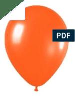 Globos Rosa y Naranja