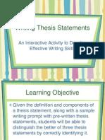 la - thesis statement practice