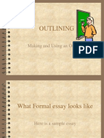 Formal Outline and Essay Types