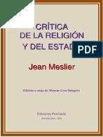 Critica de La Religion y Del Estado