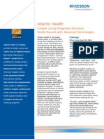 Atlantic Health:Creates a Fully Integrated Electronic Health Record with Advanced Technologies