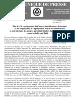 PR 1351 - Plus de 120 membres du personnel du Congrès américain, des defenseurs de la santé et des responsables d'ONG s'informent des progrès réalisés dans la lutte contre le choléra en Haiti.pdf