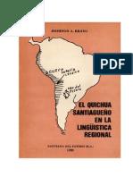 El Quichua Santiagueño en la Lingüística Regional.