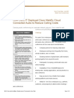 How Cisco IT Deployed Cisco WebEx Cloud Connected Audio to Reduce Calling Costs