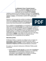 Ministerio Público - TEMA 9