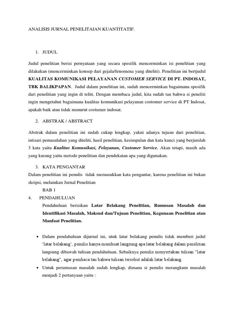 Analisis Jurnal Penelitaian Kuantitatif Docxdef