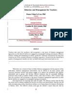 6. Classroom Behavior and Management for Teachers - Dr. Donna Odom LaCaze NFTEJ.doc
