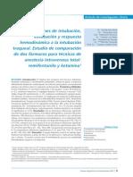 Remifentanilo vs Ketamina Intubacion Extubacion
