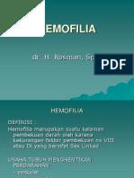 Kul dr. Rosman HEMOFILIA.ppt