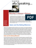 Islamically Speaking Newsletter VOL 1. (Re-Done)
