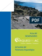 Actas del Seminario de Gestión del Patrimonio Arqueológico, Arqueomac 2011