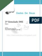 DDD - 3o simulado de física - Reta Final
