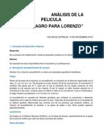 Analisi de La Pelicula Un Milagro Para Lorenzo