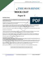 Mock Civil Services Csat Delhi Question Paper