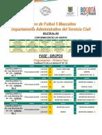 Servicio Civil Adm. Torneo de Fútbol 5  - Boletin Progra_macion No. 003