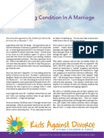 Pre-Existing Condition in a Marriage