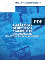 Catalogo de Recursos y Materiales Del Proyecto