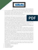 Consumer Behavior Case Study - Gillette