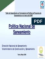 01.0 Plan Nacional de Saneamiento-Tacna-Mayo 2006