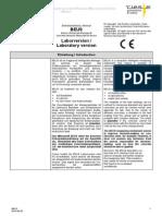 BEUS Bedienungsanleitung Laboratory version