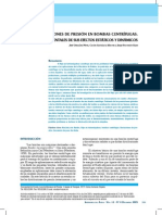 Fluctuaciones de Presion en Bombas Centrifugas Medidas Experimentales de Sus Efectos Estaticos y Dinamicos