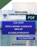 Planul de Amenajare Al Bazinului Hidrografic Olt - Rm Valcea 26 August 2009