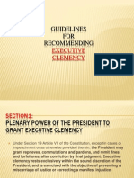 Guidelines for Executive Clemency