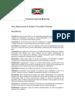 The Constitution of Burundi(French)