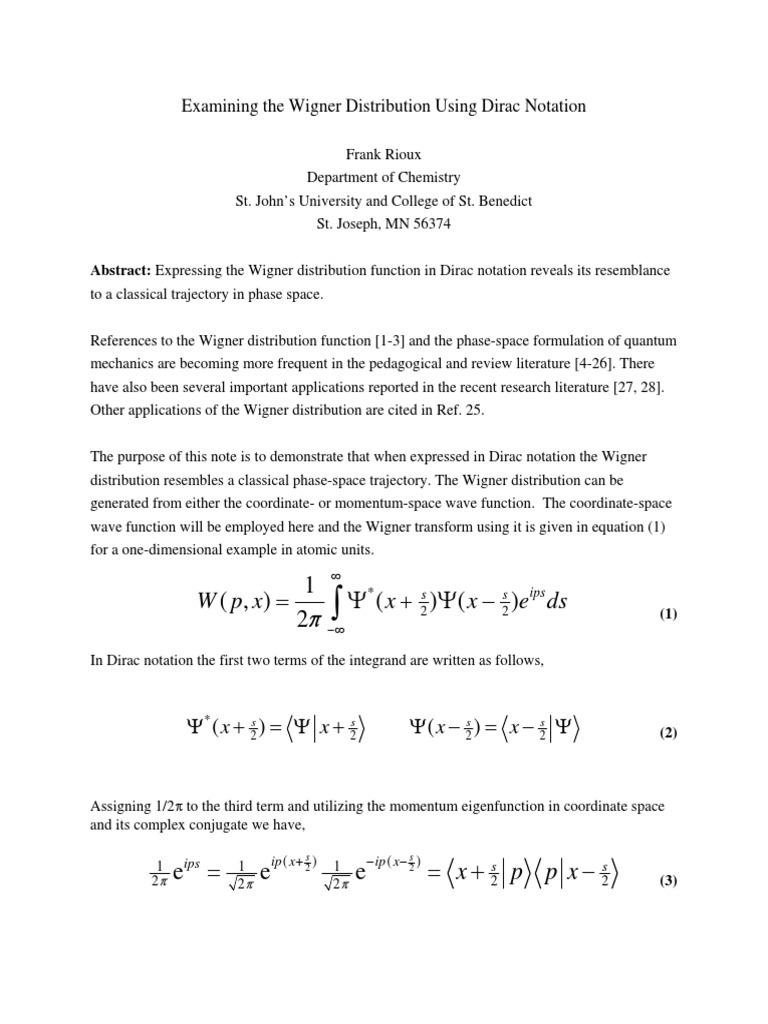 wigner pdf | Wave Function | Quantum Mechanics