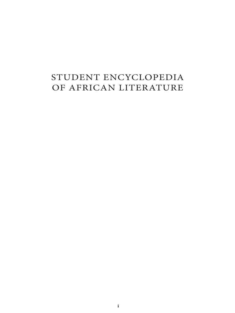 Student encyclopedia of african literaturepdf fandeluxe Choice Image