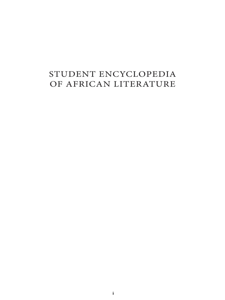 Student encyclopedia of african literaturepdf fandeluxe Choice Image