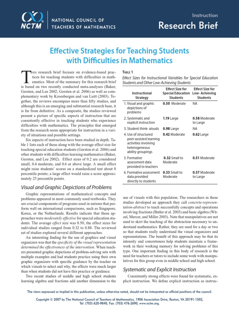 Effective Strategies For Teaching Students With Difficulties In