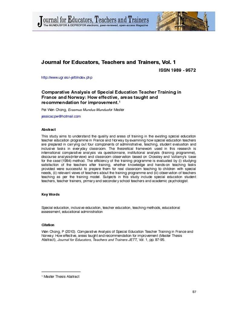 thesis on special education pdf