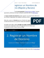 Como Reservar un Dominio - Curso en Video Gratis - Como Crear un Blog - Wordpress