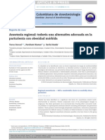 Anestesia Regional Gestante Obesa