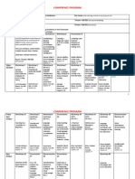 schedule of conference workshops