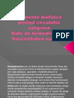 Elemente Biofizice Privind Circulatia Sangvina