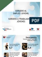 Subsidio a Trabajadores Jóvenes y Subsidio al Empleo Juvenil - Presentación Seremi del Trabajo de Tarapacá