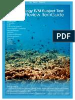 SAT 2 Biology E/M Guide
