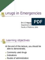 Drugs in Emergencies