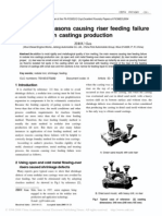 Analysis of Reasons Causing Riser Feeding Failure